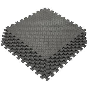Multi-Purpose Black 24 in. x 24 in. EVA Foam Interlocking Anti-Fatigue Exercise Tile Mat (6-Piece)
