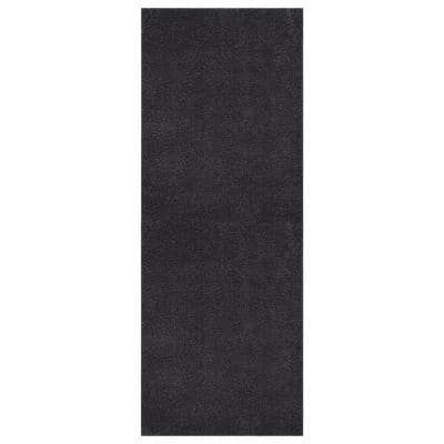 Grey Grass 1 ft. 8 in. x 4 ft. 11 in. Gray Solid Runner Rug