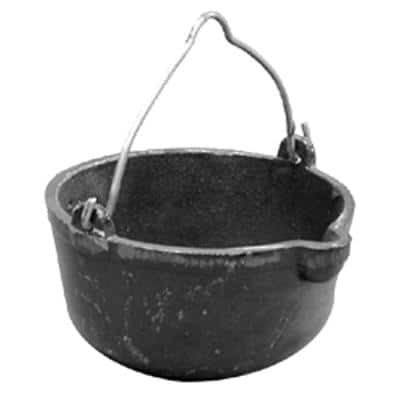 8 in. Cast Iron Melting Pot for Lead Ingots