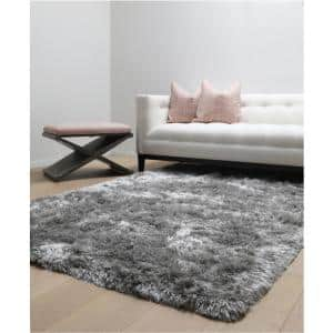 Luxe Shag Grey 8 ft. x 10 ft. Area Rug