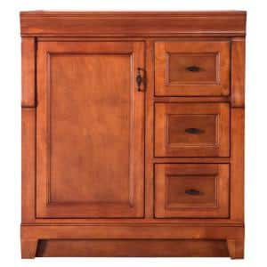 Naples 30 in. W x 21.63 in. D Vanity Cabinet Only in Warm Cinnamon with Right Hand Drawers