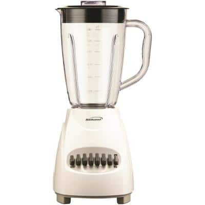 50 oz. 12-Speed White Electric Blender with Plastic Jar