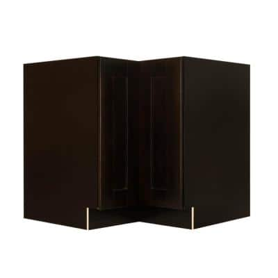 Anchester Assembled 36 in. x 34.5 in. x 24 in. Base Lazy Susan Cabinet in Dark Espresso