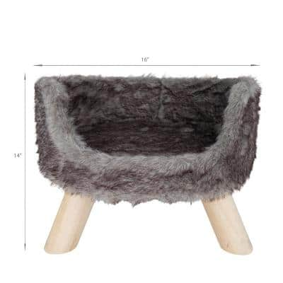 Silver Nordic Cat Bed