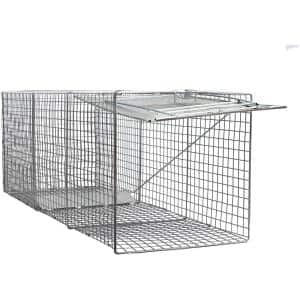 Large One Door Catch Release Heavy-Duty Humane Cage Live Animal Traps for Foxes and Other Similar Sized Animals