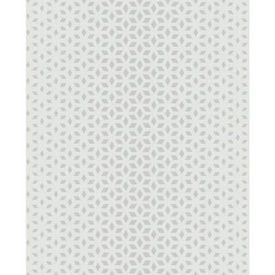 Whiston Grey Geometric Paper Strippable Roll (Covers 56.4 sq. ft.)