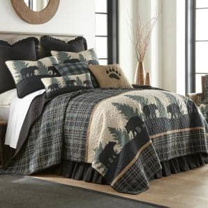 Morgan Home Mhf Home Elephant Full Queen Print Quilt Set M591051 The Home Depot