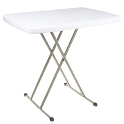 30 in. White Plastic Folding High Top Table