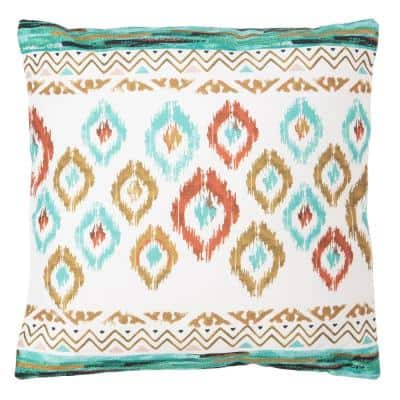 Abela Multi-Color Square Outdoor Throw Pillow