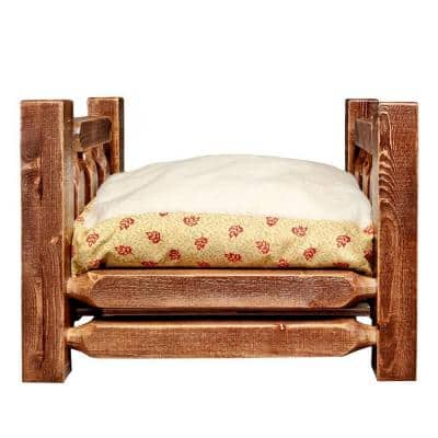 Homestead Collection Small Stained and Lacquered Pet Bed