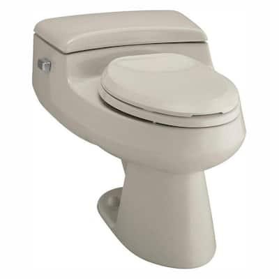 San Raphael Comfort Height 1-piece 1 GPF Single Flush Elongated Toilet in Sandbar, Seat Included