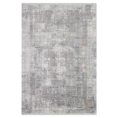 Jarrett Contemporary Transitional Mink 5 ft. x 10 ft. Oriental Area Rug