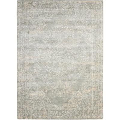 Euphoria Grey 4 ft. x 6 ft. Floral Traditional Area Rug