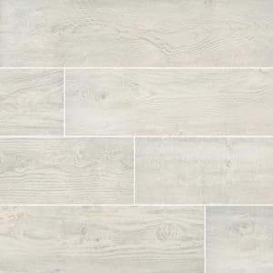 Caldera Blanca 8 in. x 47 in. Matte Porcelain Floor and Wall Tile (15.67 sq. ft./Case)
