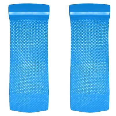 Texas Recreation Super Soft 70 in. Blue Foam Mat Raft Lounger Pool Float (2-Pack)