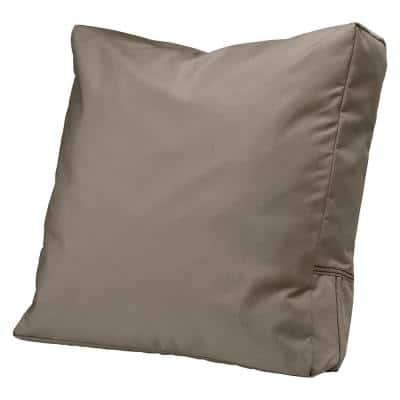 Ravenna 23 in. x 20 in. x 4 in. Outdoor Lounge Chair/Loveseat Back Cushion in Dark Taupe