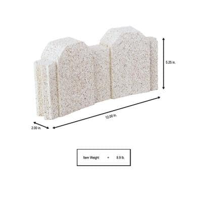 12 in. x 2 in. x 5.24 in. Limestone Curved Picket Concrete Edger ( 160-Pieces/160 Linear ft./Pallet)