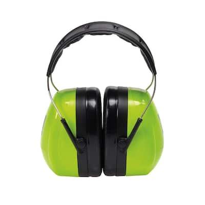 Holmes Green High Viz Green Professional Work Wear Earmuffs (Case of 4)