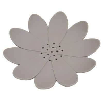Counter Top Bath Soap Dish Cup Water Lily Solid Taupe
