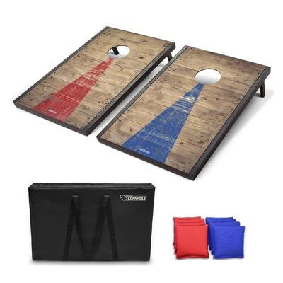 Cornhole Regulation Size 3 ft. x 2 ft. Rustic Bean Bag Backyard Lawn Game