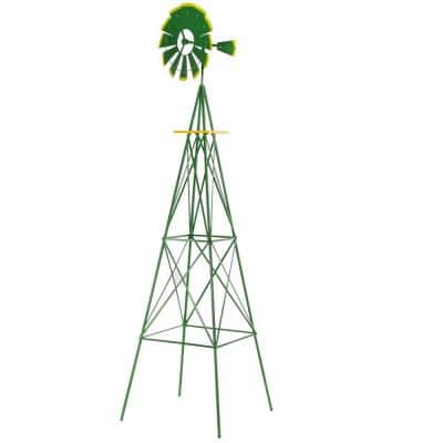 8 ft. Decorative Weather Resistant Backyard Wind Mill