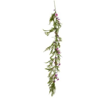 60 in. Grass Wildflowers Garland