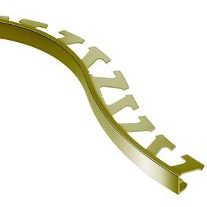 Schiene Solid Brass 11/32 in. x 8 ft. 2-1/2 in. Metal Radius Tile Edging Trim