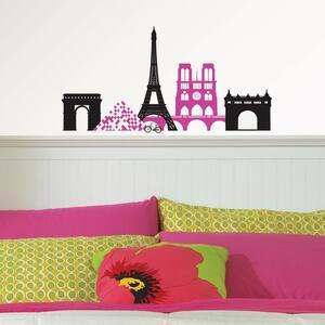 Pink Springtime in Paris Wall Art Kit