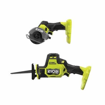 ONE+ HP 18V Brushless Cordless Compact 2-Tool Combo Kit with One-Handed Reciprocating Saw and Cut-Off Tool (Tools Only)