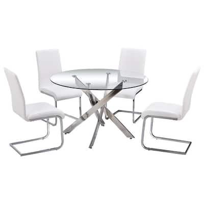 Trinity White Dining Set (5-Piece)