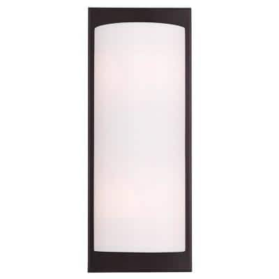 Meridian 2 Light Bronze Wall Sconce