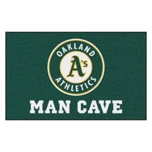 MLB - Oakland Athletics Man Cave UltiMat 5 ft. x 8 ft. Indoor Area Rug