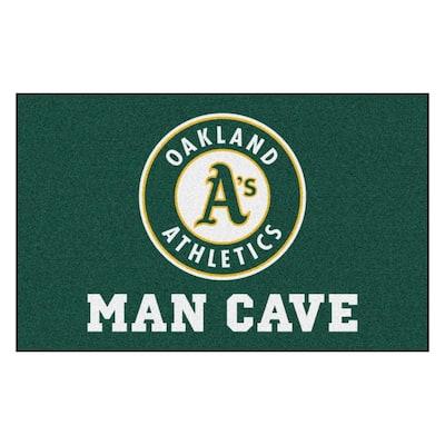 MLB - Oakland Athletics Man Cave UltiMat 5 ft. x 8 ft. Indoor Area Rug