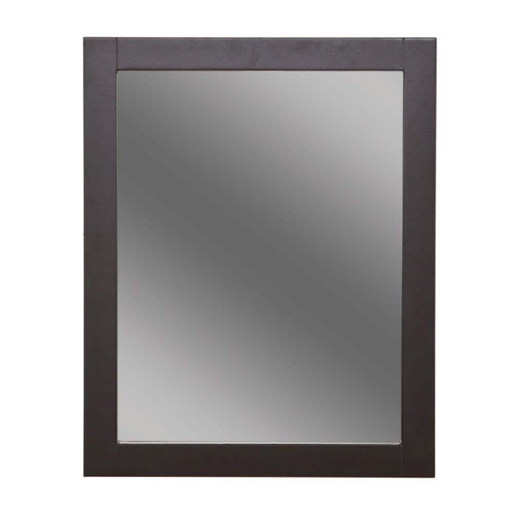 Glacier Bay Del Mar 24 In W X 30 In H Framed Bathroom Vanity Mirror In Espresso Dmwm2430com E The Home Depot