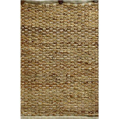 Accord Tan 2 ft. 6 in. x 4 ft. Woven Grid Natural Jute Area Rug