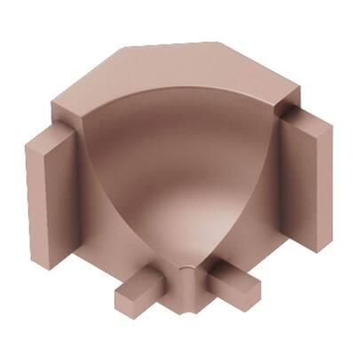 Dilex-AHK Satin Copper Anodized Aluminum 1/2 in. x 1 in. Metal 90 Degree Inside Corner