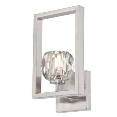 Zoa 1-Light LED Brushed Nickel Wall Mount Sconce
