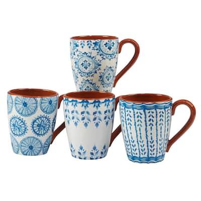 Porto 4-Piece Multi-Colored 22 oz. Mug Set
