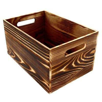 Project Craft Rustic Wooden Crate for Storage and Décor, 11.75 in. x 8 in.
