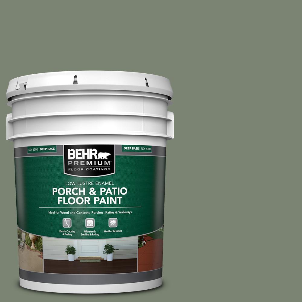5 gal. #ICC-77 Sage Green Low-Lustre Enamel Interior/Exterior Porch and Patio Floor Paint