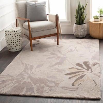 Amaranthus Gray 2 ft. x 4 ft. Hearth Indoor Area Rug