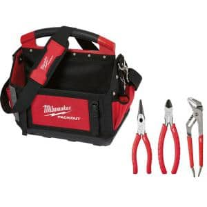 15 in. PACKOUT Tote with 3-Piece Pliers Kit