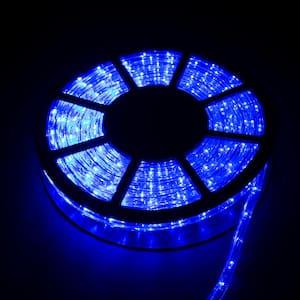 Outdoor 50 ft. 110-Volt Plug-in Blue LED Rope Light Color Changing Lights