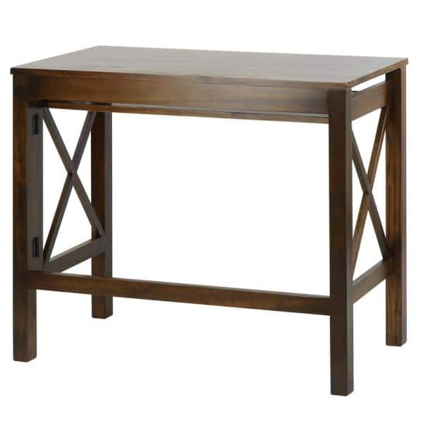 Casual Home X Design Warm Brown Folding Desk With Pull Out 533 34 The Depot