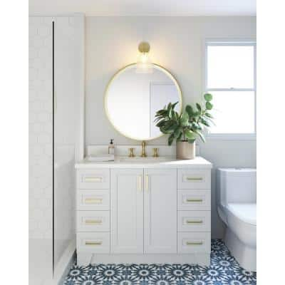 Taylor 48 in. W Vanity Cabinet Only in White