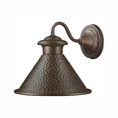 Essen 1-Light Antique Copper Outdoor Wall Lantern Sconce