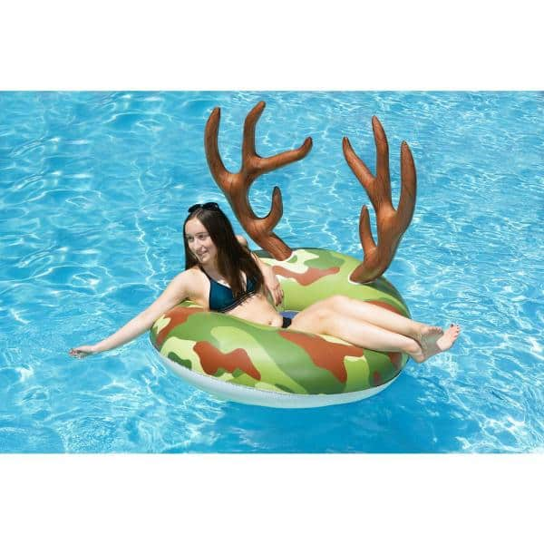 Poolmaster 48 In Camo Party Float Swimming Pool Tube 87168 The Home Depot