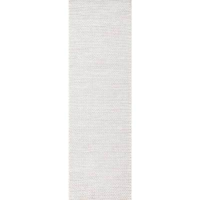 Caryatid Chunky Woolen Cable Off-White 3 ft. x 8 ft. Runner