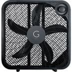 20 in. Black 3-Speed Settings Box Fan with Max Cooling Technology