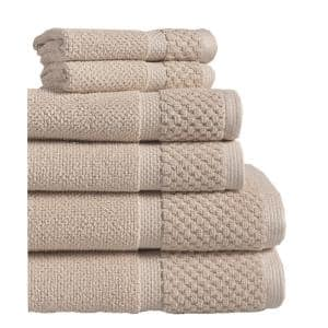 Diplomat 6-Piece Taupe Solid Cotton Bath Towel Set